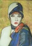 Obras de arte: America : Argentina : Buenos_Aires : Mar_del_Plata : Mujer en azul