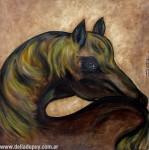 Obras de arte: America : Argentina : Buenos_Aires : La_Plata : caballo mirando al sol