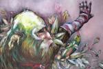 Obras de arte: Europa : España : Madrid : Madrid_ciudad : Mono con guates de cabaretera