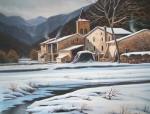 Obras de arte: Europa : España : Catalunya_Girona : olot : despues de la nevada