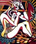 Obras de arte: America : Argentina : San_Luis : Juana_Koslay_-_El_Chorrillo : A la Siesta