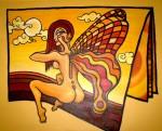 Obras de arte: America : Argentina : San_Luis : Juana_Koslay_-_El_Chorrillo : Entre Hojas Vuelo
