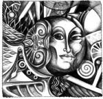 Obras de arte: America : Argentina : San_Luis : Juana_Koslay_-_El_Chorrillo : Femme