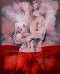 Obras de arte: Europa : España : Murcia : molina : Desnudo sobre rojo