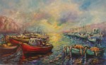 Obras de arte: Europa : España : Andalucía_Málaga : Torre_del_Mar : Barcas en Espera