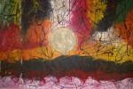 Obras de arte: Europa : España : Galicia_Lugo : Villalba : PAISAJE AFRICANO CON SOL