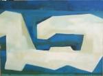 Obras de arte: America : Chile : Region_Metropolitana-Santiago : Santiago_de_Chile : ESTRUCTURA EN FONDO AZUL
