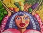 Obras de arte: America : Rep_Dominicana : Santo_Domingo : Distrito_Nac : marchanta de colores