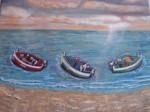 Obras de arte: Europa : España : Catalunya_Barcelona : Barcelona : Tres barcas