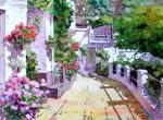 Obras de arte: Europa : España : Andalucía_Almería : Almeria : Calle de Bubión - Las Alpujarras - Granada