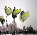 Obras de arte: Europa : España : Catalunya_Barcelona : Barcelona : Flores tinta china