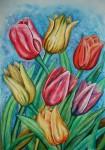 Obras de arte: America : Colombia : Antioquia : Medellín : Tulipanes