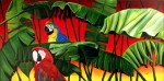 Obras de arte: America : Argentina : Cordoba : Cordoba_ciudad : Plants & Parrots