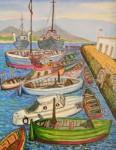 Obras de arte: Europa : España : Andalucía_Cádiz : Algeciras : Barcas en puerto