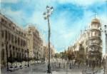 Obras de arte: Europa : España : Extremadura_Badajoz : Oliva_de_la_Frontera : Avd de la Constitucion. Sevilla
