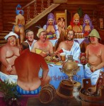 Obras de arte: Europa : Rusia : Leningrad : Saint-Petersburg : Russian bath