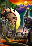 Obras de arte: America : Perú : Ucayali : PUCALLPA : Escena mítica a la luz del ocaso