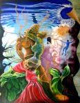 Obras de arte: America : Venezuela : Miranda : Caracas_capital : 5 segundos antes de despertar, recogiendo la tela de mi propio sueño.