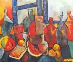 Obras de arte: America : Uruguay : Artigas : Artigas_ciudad : Sandía con vino