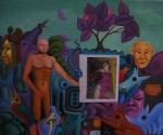 Obras de arte: Europa : España : Valencia : Burjassot : adam and eve