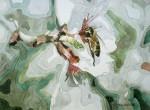 Obras de arte: America : Chile : Tarapaca : Arica : Flor y abeja