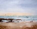 Obras de arte: America : Chile : Tarapaca : Arica : Playa y Gaviotas