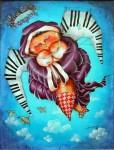 Obras de arte: America : Cuba : Ciudad_de_La_Habana : San_Miguel_del_Padrón : También las gordas van al cielo
