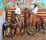 Obras de arte: America : México : Baja_California_Sur : lapaz : En el coleadero