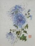 Obras de arte: America : México : Baja_California :  : Crisantemo azul