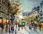 Obras de arte: America : Argentina : Buenos_Aires : Ciudad_de_Buenos_Aires : Boulevard de la Madeleine - Belle Epoque