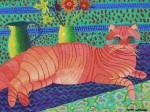 Obras de arte: Europa : España : Galicia_Pontevedra : Porriño : Gato Deitado