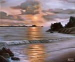 Obras de arte: Europa : España : Andalucía_Cádiz : Jerez_de_la_Frontera : Atardecer en las playas del sur