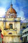Obras de arte: America : Guatemala : Guatemala-region : Guatemala-ciudad : Desde el Callejon de Jesus