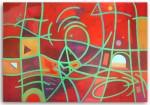 Obras de arte: America : Argentina : Cordoba : Unquillo : composicion en rojos