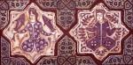 Obras de arte: Europa : España : Madrid : Madrid_ciudad : azulejo doble estrella