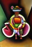 Obras de arte: America : Colombia : Santander_colombia : Bucaramanga : PALENQUERA EN RETIRADA