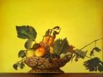 Obras de arte: America : México : Veracruz-Llave : POZA_RICA_ : CESTO CON FRUTAS