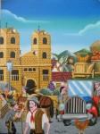 Obras de arte: America : Colombia : Santander_colombia : Giron : Dia de mercado en Zapatoca