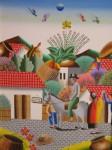 Obras de arte: America : Colombia : Santander_colombia : Giron : De paseo por el pueblo
