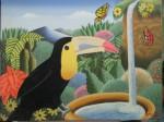Obras de arte: America : Colombia : Santander_colombia : Giron : Un tucán