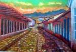 Obras de arte: America : México : Veracruz-Llave : Xalapa : Calle Tipica