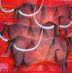 Obras de arte: America : México : Mexico_Distrito-Federal : Coyoacan : TRES TRISTES TOROS