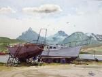 Obras de arte: America : Argentina : Tierra_del_Fuego : Ushuaia : s-t veleros (R-264).jpg