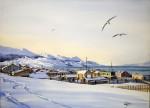 Obras de arte: America : Argentina : Tierra_del_Fuego : Ushuaia : una nevadita (R-187).jpg
