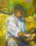 Obras de arte: America : Argentina : Cordoba : Rio_Ceballos : buscador de oro