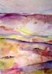 Obras de arte: Europa : España : Madrid : mostoles : Paisaje en violetas