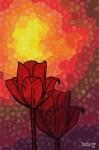 Obras de arte: Europa : España : Andalucía_Sevilla : paso_2 : Flores rojas