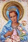 Obras de arte: America : Venezuela : Miranda : Caracas_ciudad : Detalle de la Obra La Virgen de Las Rosas