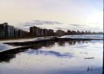 Obras de arte: Europa : España : Principado_de_Asturias : Oviedo : ANOCHECER EL LA PLAYA DE SAN LORENZO (GIJON )