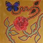 Obras de arte: Europa : España : Catalunya_Barcelona : Sant_Esteve_de_Palautordera : Flor i papallona